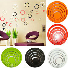 One Set Home Decoration Circles 3D Removable Art Wall Stickers Multi-Colors