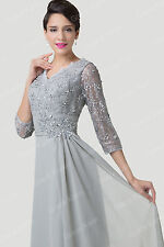 New Mother Of The Bride Lace Evening Formal Ball Gowns Bridesmaid Cocktail Dress