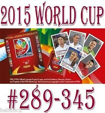 #289 to 345 Panini Womens 2015 World Cup - SWEDEN / NIGERIA / BRAZIL