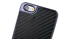 Premium Carbon Fiber Style Chrome Bumper Case Cover For Apple iPhone 5 5s