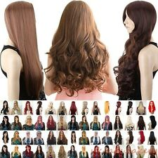 "UPS 19""-32"" Full Wigs 40 Shades Straight Curly Wig Lady Cosplay Daily Hair Dress"
