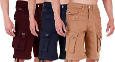 MENS CHINO STRETCH TWILL COMBAT SUMMER SHORTS WAIST 28 - 40 42 44 46 48 MJT55