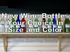 New Glass Wine Bottles. YOUR CHOICE in size and color, NEW Wine Bottles