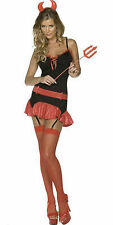 Ladies Sexy DEVIL HALLOWEEN fancy dress costume size large 16 - 18