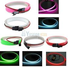 1M 12V  Flexible EL Light Glow Neon Bar Wire Rope Strip Bike Party Car 5 Colors