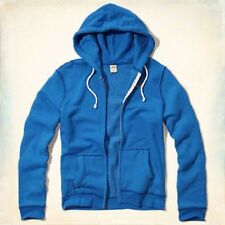 NWT Hollister Dudes Mens Blue Icon Full Zip Hoodie Jacket Pocket Front S M L XL