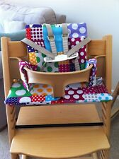 Cushion Sets - Bespoke - Custom Made to fit Tripp Trapp Wooden Highchair