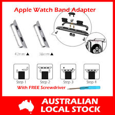 For Apple Watch 38mm 42mm Stainless Steel Band Strap Connector Adapter Tool Kit