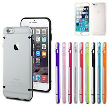 2 pcs Slim Transparent Crystal Clear Hard TPU Cover Case for Apple iPhone 6 6s