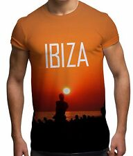 Ibiza 2015 Sunset All Over Print Fashion Holiday Sun Summer Beach Mens T Shirt