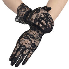 Sexy Women's Girls' Bridal Evening Wedding Party Prom Driving Lace Gloves