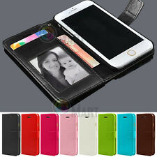 For Apple iPhone 5C C Leather Flip Cover Credit Card Wallet Case Skin