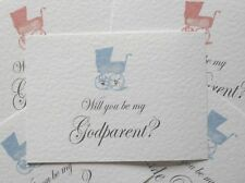 WILL YOU BE MY Christening card + envelope - Personalised