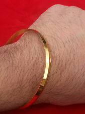 Stunning 24 Carat Gold Look - Gold Plated Sikh Singh 3 Lines Replica Kara GIFTs