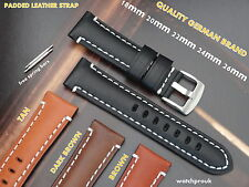QUALITY PADDED LEATHER WATCH BAND STRAP TO FIT BREITLING 20mm 22mm 24mm 26mm
