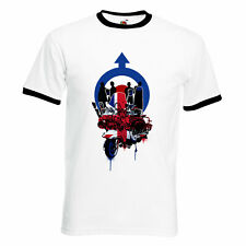 Union Jack Mod Subculture Scooter Northern Soul SKA Music Mens Ringer T Shirt