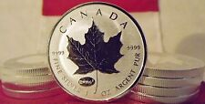 2015 Canada Maple Leaf $5. One Oz .9999 Pure Silver w/ Einstein E=mc² PRIVY MARK