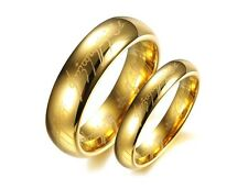 New Tungsten Lord of the Rings The One Band Gold Plated LOTR Men/Women Rings
