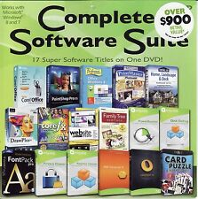 Complete Software Suite - 17 Super Software Titles on One DVD! Over $900 Value!!