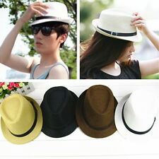 Classic Men Women Summer Panama Fedora Trilby Cuban  Hat Straw Hat Jazz New HG