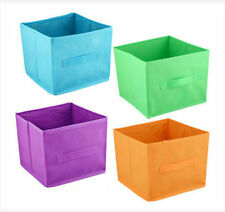 Fabric Storage Bins Foldable Cube Organizer Basket Kids Shelves Color Containers
