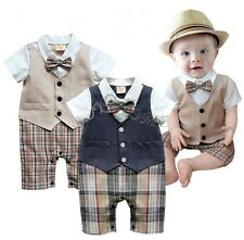 Baby Suit Newborn Romper Boys Outfit Kid Onesie Clothes Clothing Playsuit 6-18M