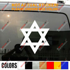 Jew Jewish Star Of David Magen Israel Car Decal Sticker
