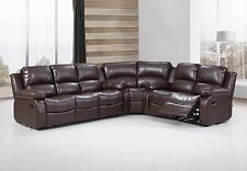 Huntington 3-pc Sectional Sofa with 4 Recliners Bonded Leather