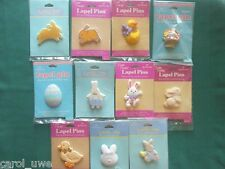 HALLMARK PIN Easter Holiday Plastic Jewelry Lapel Pin YOU CHOOSE YOUR PIN-C1