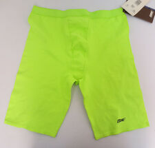 BIKE COMPRESSION PERFORMANCE SHORTS LIME GREEN UNISEX ATHLETIC CYCLING SPORTS