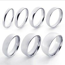 316L Stainless Steel Silver Couple Lover Engagement Wedding Band Ring G074336