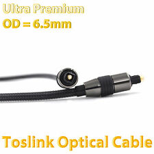 Ultra Premium Toslink Optical Fibre Cable 5.1 7.2 Digital Audio 1m 2m 3m