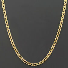 14K YELLOW OR WHITE GOLD 2.0MM DOUBLE CURB LINK CHAIN FREE SHIPPING AND GIFT BOX