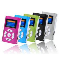 USB Mini Clip MP3 Player LCD Screen Support 32GB Micro SD TF Card Radio New