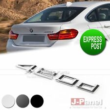420d REAR TRUNK LETTER EMBLEM BADGE STICKER for ALL BMW 4 SERIES CAR USE 3 COLOR