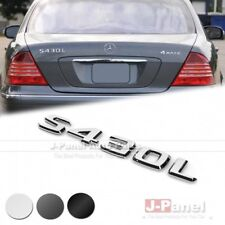 S430L REAR TRUNK LETTER EMBLEM BADGE for ALL MERCEDES BENZ S CLASS W220 3 COLORS