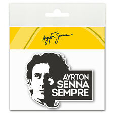 Ayrton Senna Sticker Sempre 3D Epoxy black/white AS-15-896-B