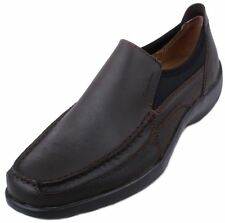Calvin Klein Israh Action Waxy Pullup Mens Brown Leather Loafer Shoes