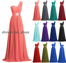 Long Bridesmaid Dress One Shoulder Prom Ball Evening Gowns Size4-6-8-10-12-14-16