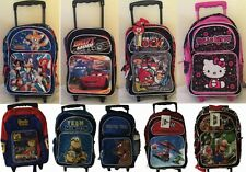 "Sonic,Cars,Minion,Mario Bro,Scooby Do,Hello Kitty,AngryBirds 16"" Roller Backpack"