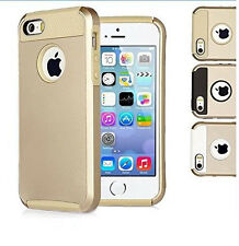 Gold PC Shockproof Dirt Dust Proof Hard Matte Cover Case For iPhone 5 5S SE