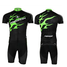 Green Fire Cycling Jerseys Shorts Short Sleeve Bike Bicycle Jerseys Suit