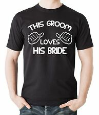 Gift For Groom This Groom Loves His Bride T-Shirt Bachelor Party Tee Shirt