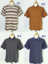 *NEW Patagonia Striped Polo Shirt Short-Sleeve Golf Men's 100% Organic Cotton M