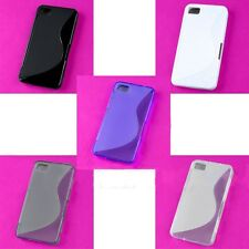 New Lot Colorful S shape Back Skin Case TPU Hard Cover Protector Blackberry Z10