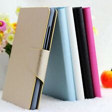 For LG Decent Luxury Silk Veins PU Leather Flip Wallet Case Cover