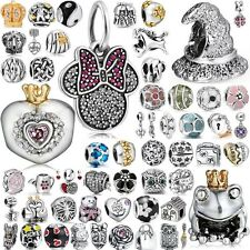 US2 European Charms New Space Beads Fit 925 Sterling Silver Bracelet Chain 3mm
