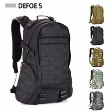 Black Molle Backpack Military Gym School Trekking Ripstop Woodland Tactical Gear