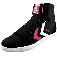 Hummel Womens Girls Slimmer Stadil High Top Classic Retro Trainers *AUTHENTIC*