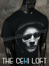 Official SONS OF ANARCHY SOA T-Shirt Jax Half Skull Face in Black